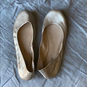 Lucky Brand gold/champagne colored flats